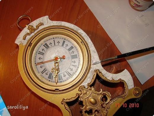 Часы оформленные холодным фарфором фото 3