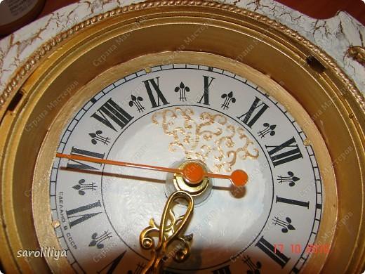 Часы оформленные холодным фарфором фото 4
