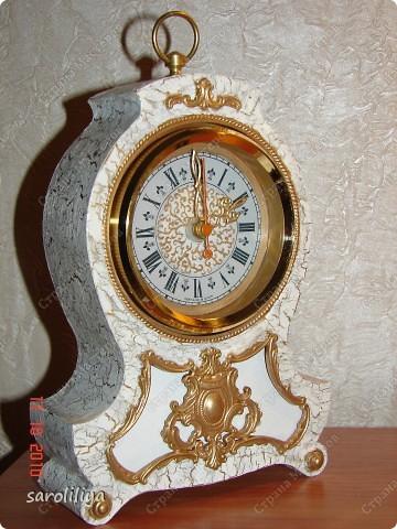 Часы оформленные холодным фарфором фото 5