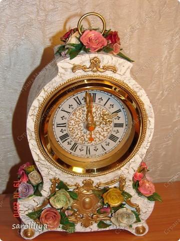 Часы оформленные холодным фарфором фото 11