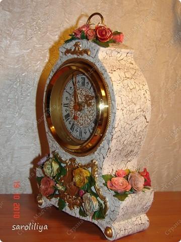 Часы оформленные холодным фарфором фото 10