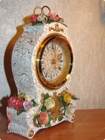 Часы оформленные холодным фарфором фото 9