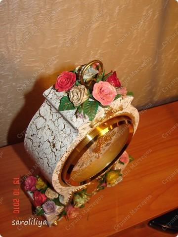 Часы оформленные холодным фарфором фото 8