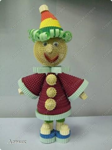 Куклы из гофрированных полосок фото 10
