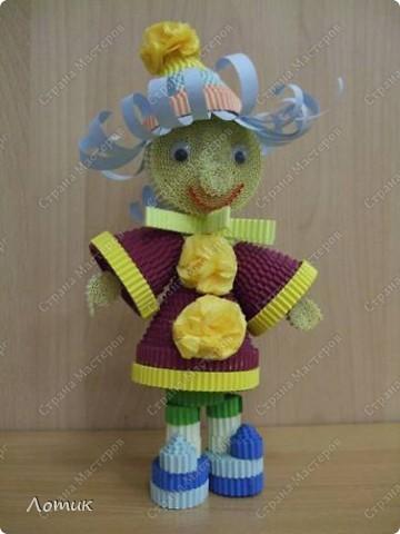 Куклы из гофрированных полосок фото 11