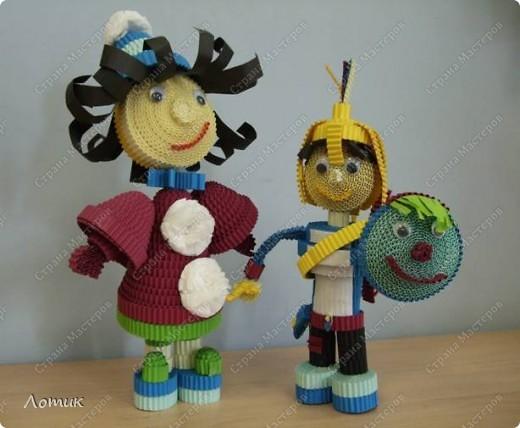 Куклы из гофрированных полосок фото 13