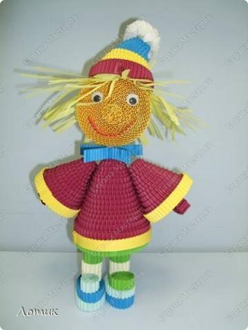 Куклы из гофрированных полосок фото 2