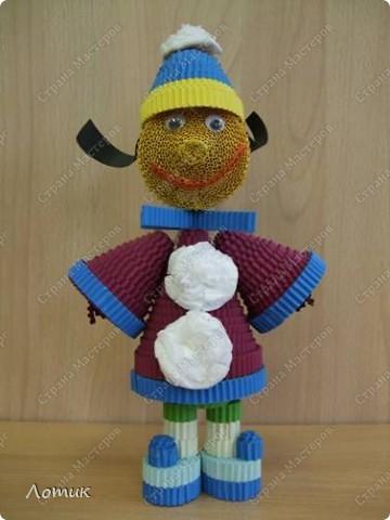 Куклы из гофрированных полосок фото 4