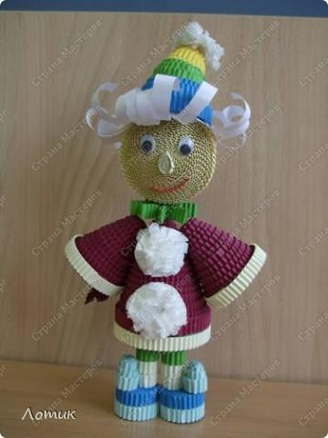 Куклы из гофрированных полосок фото 6