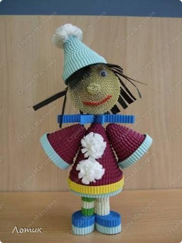 Куклы из гофрированных полосок фото 7