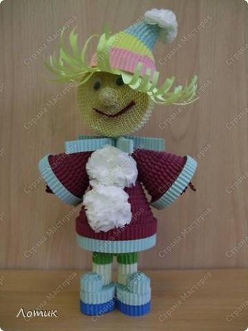 Куклы из гофрированных полосок фото 8