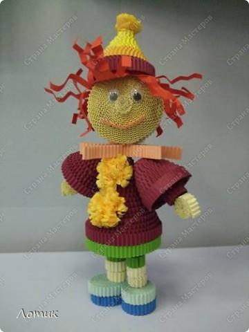 Куклы из гофрированных полосок фото 9