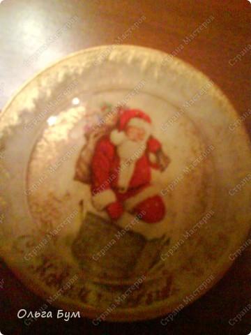 Тарелка новогодняя фото 2