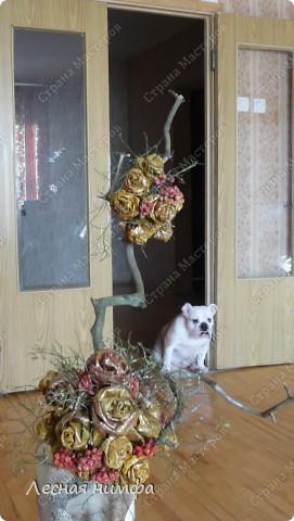 листья превращаются  в букеты роз! фото 3
