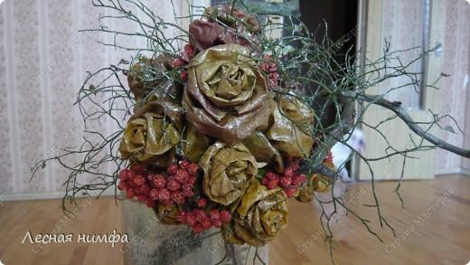 листья превращаются  в букеты роз! фото 6