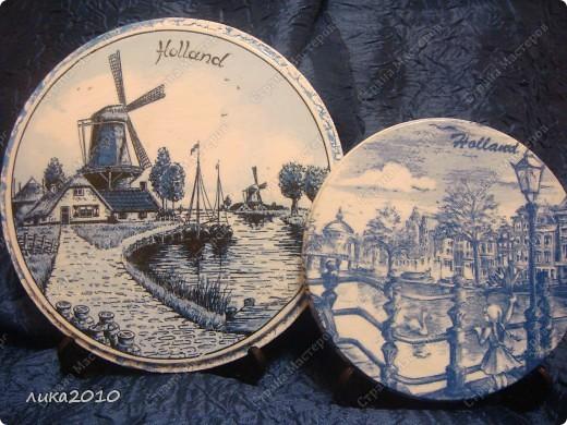 Использованные остатки гипса и салфетки, привезенные сыном из Голландии, и получились небольшие сувенирчики. фото 1