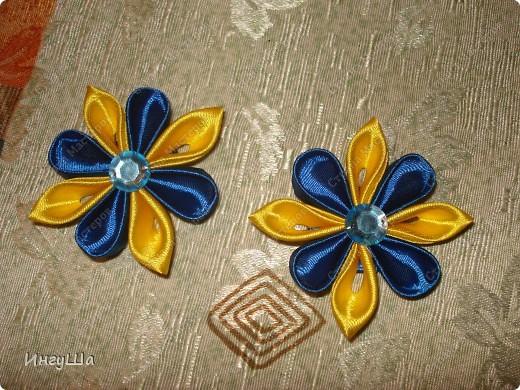 Бабочки - канзаши фото 3
