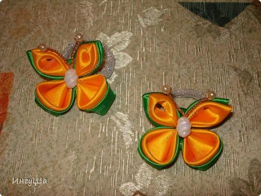 Бабочки - канзаши фото 1