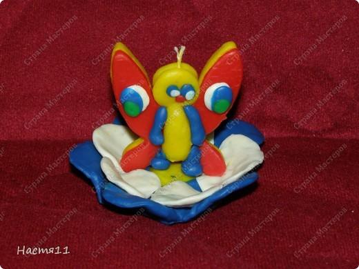 А вот и моя бабочка. Эту бабочку я делала по принципу яблони. фото 1