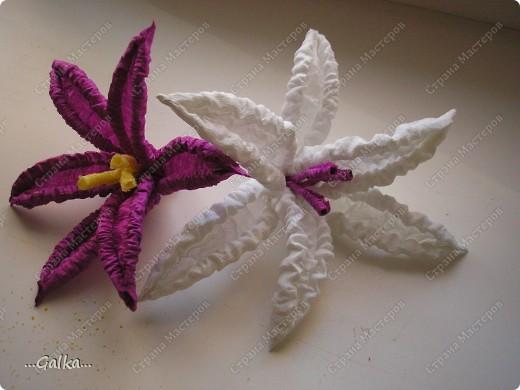 Вот такие лилии у меня получились...... пока лежат тихонько на полочке..... никак не придумаю им более достойного применения :( (очень обрадуюсь вашим советам) фото 4
