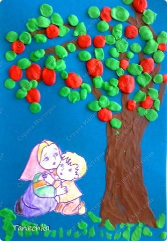 Работа моей воспитанницы Миланы (6 лет) в картинную галерею нашего детского сада.