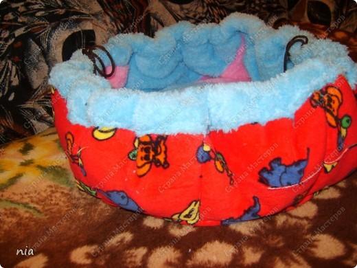 Эту кроватку-трансформер я сшила для будущего котёнка. Появится он в нашей семье в декабре)) фото 1