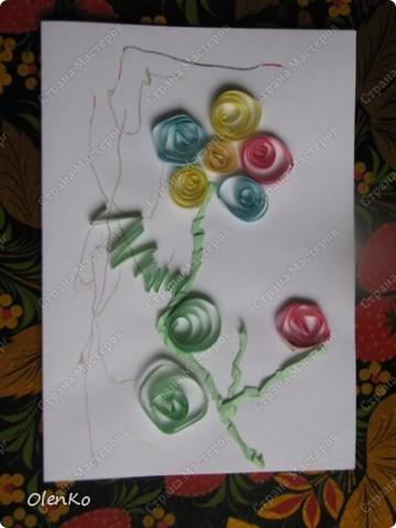 Мишуткино творчество - открытка для любимой тети Даши фото 1
