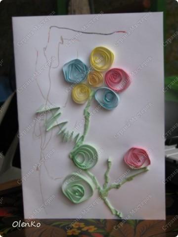 Мишуткино творчество - открытка для любимой тети Даши фото 3