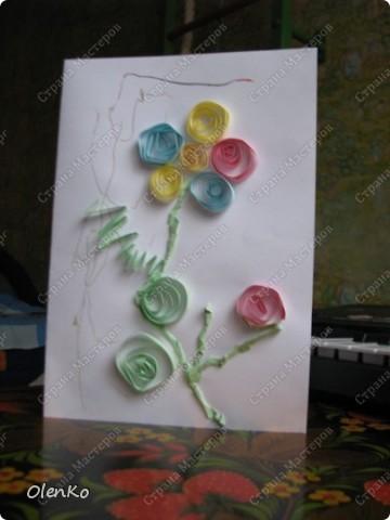 Мишуткино творчество - открытка для любимой тети Даши фото 2