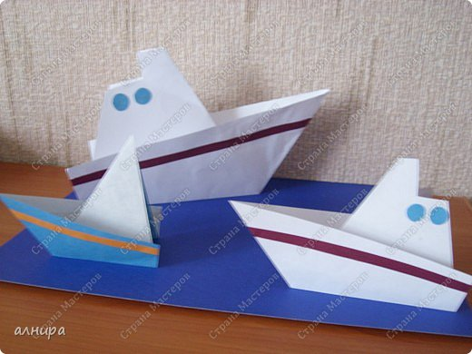 Кораблики из бумаги мастер класс