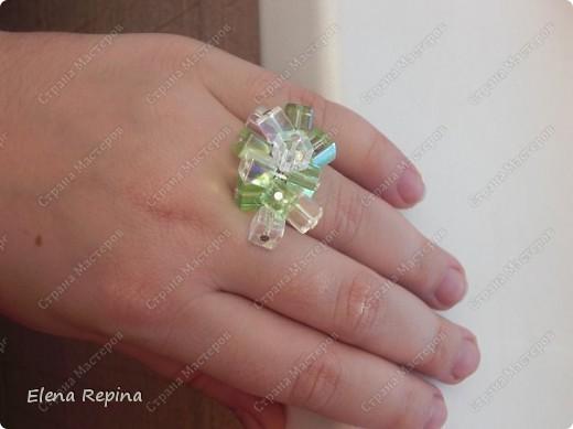 вот такие сережки и кольцо.  было сделано весной. хотелось легкости и воздушности. фото 3