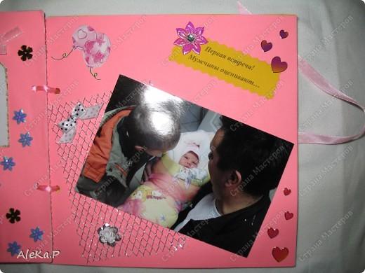 Племяннице исполнился 1 месяц, решила сделать вот такой подарочек, ее родителям, очень были довольны. фото 3