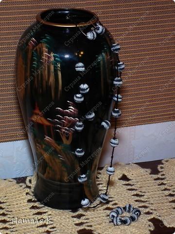 набор из бус, браслета и сережек фото 3