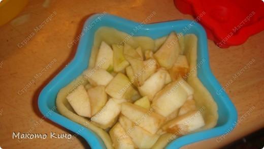 это вторая часть моего МК. делаем сам пирог. Нарезаем чищеные яблоки. фото 4