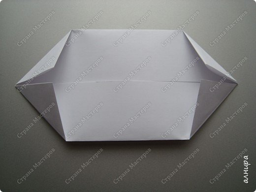 Лодочка оригами.МК фото 4