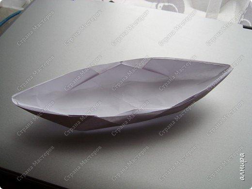 Лодочка оригами.МК фото 10