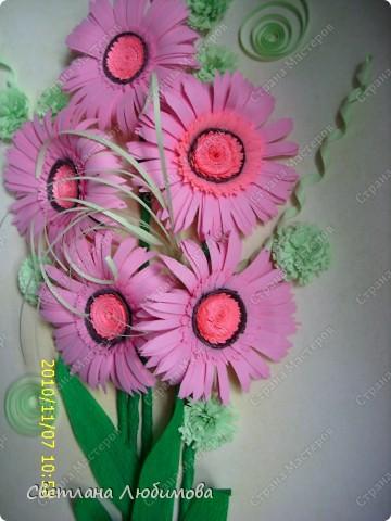 Вот такие цветы родились благодаря Ольге Ольшак! Очень понравилось их делать, просто и быстро. фото 1