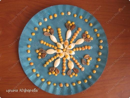 Апликация в круге с использованием семян (альбом) фото 11