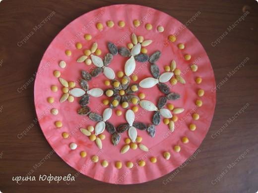 Апликация в круге с использованием семян (альбом) фото 12