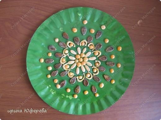Апликация в круге с использованием семян (альбом) фото 10