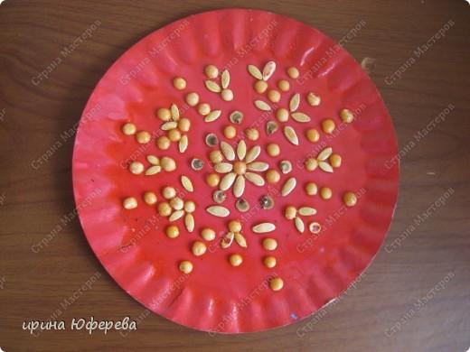 Апликация в круге с использованием семян (альбом) фото 19