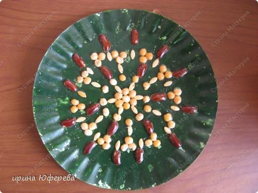 Апликация в круге с использованием семян (альбом) фото 20