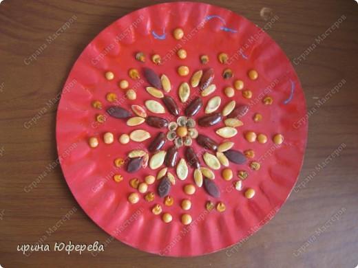 Апликация в круге с использованием семян (альбом) фото 21