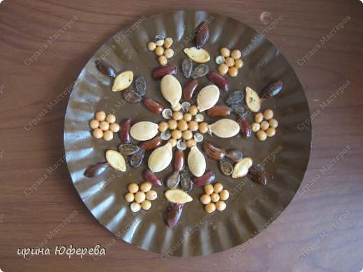 Апликация в круге с использованием семян (альбом) фото 22