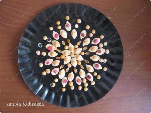 Апликация в круге с использованием семян (альбом) фото 23