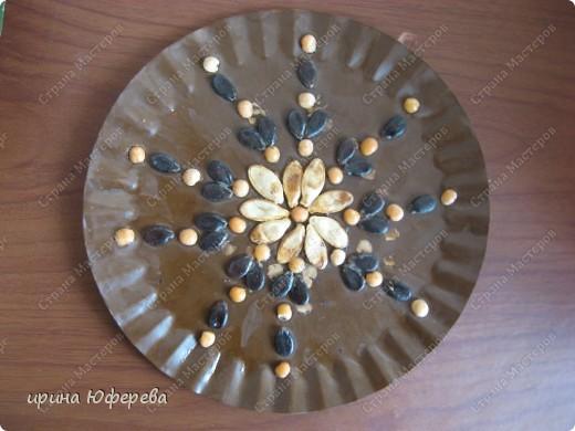 Апликация в круге с использованием семян (альбом) фото 26