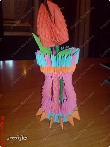 Вот такой тюльпанчик в вазе мы сделали благодаря вашему сайту...Спасибо, что вы есть!!!!!!!!!!!