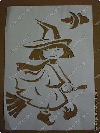 Хоть Хеллоуин уже и прошел, но решила опубликовать свои работы к этому празднику. Может быть на следующий год кому-нибудь пригодиться. Размер работ 10 см на 15 см. Разрешите представить - Доброе привидение. фото 7