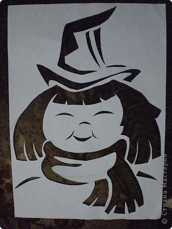 Хоть Хеллоуин уже и прошел, но решила опубликовать свои работы к этому празднику. Может быть на следующий год кому-нибудь пригодиться. Размер работ 10 см на 15 см. Разрешите представить - Доброе привидение. фото 5