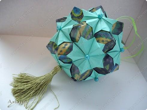 "Еще один МК на кусудаму из книги Томоко Фусе ""floral globe"" фото 31"